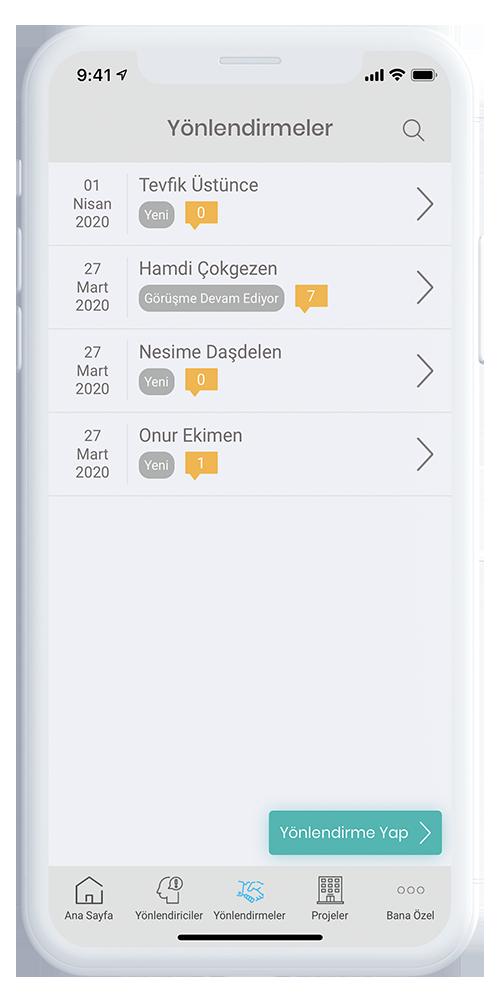 Mobil Broker Yönlendirme Takip Ekranı