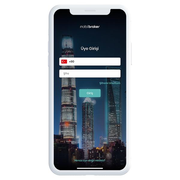 Mobil Broker Giriş Ekranı